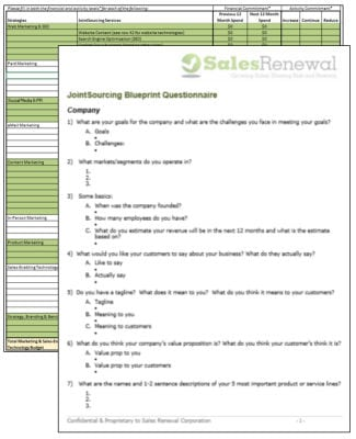 First step blueprint sales renewal jointsourcings marketing questionnaire malvernweather Image collections