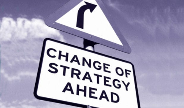 change of strategy ahead sign
