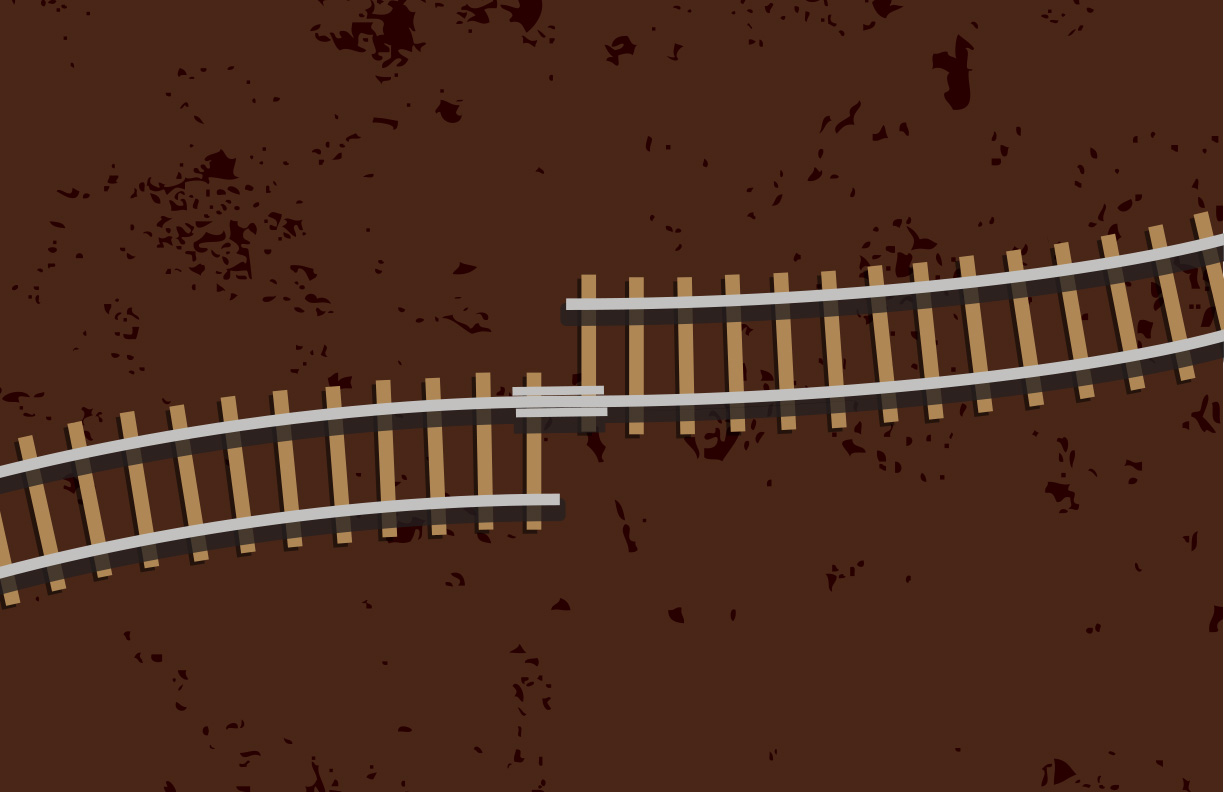 Misaligned Financial Interests - two offset train tracks